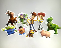 Kit c/ 9 display em PVC c/base toy story