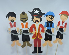kit Topper de mesa pirata
