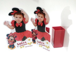 displays 25cm pvc com porta lápis Minnie