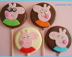 Pirulito de Chocolate Peppa Pig