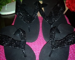 Havaianas Top Com Manta de Strass Larga