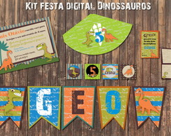 Dino Vintage Boy kit festa digital