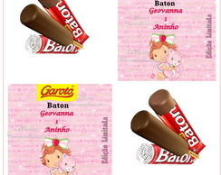 Rotulo Chocolate Baton Moranguinho Baby