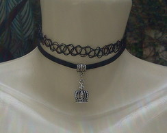 Tattoo choker ou gargantilha tribal