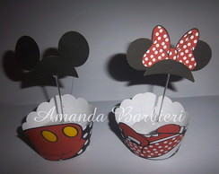 Wrappers para Cupcakes Minnie/Mickey