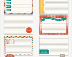 Kit Digital Circus Time Journal Cards