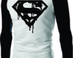 Camiseta Super Homen Raglan Mang