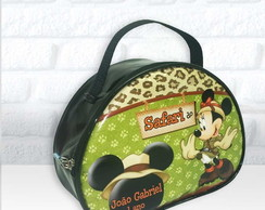 Maletinha Oval tema Mickey Safari