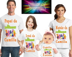 Kit 4 Camisetas Backyardigans