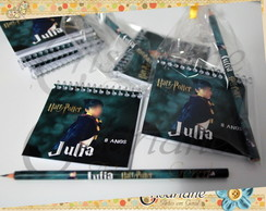 Kit Bloquinho de notas Harry Potter