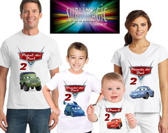 Kit 4 Camisetas Carros