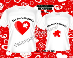 Kit Camisetas Namorados