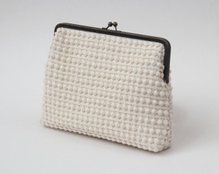 clutch de renda nude