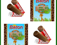 Rotulo Chocolate Batom Safari Baby