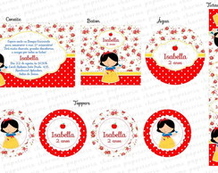 Kit Digital Branca De Neve Floral - 03