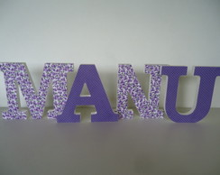 Manu - letras decoradas