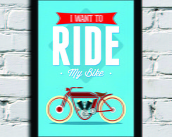 Poster com Moldura ride my bike