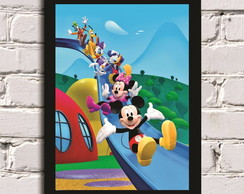 Poster com MolduraMickey Mouse Clubhouse