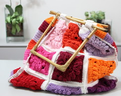 Big Flower square Bag