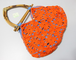 orange blue purse