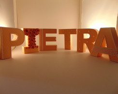 Letras 3D Red Decorada