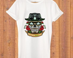 Camiseta Breaking Bad caveira mexicana