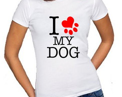 Baby look personalizada I Love My Dog