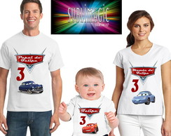 Kit 3 Camisetas Carros A3