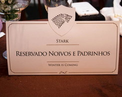 Placas Número Mesa Game of Thrones