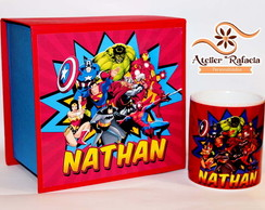 Kit Caneca Super Herois
