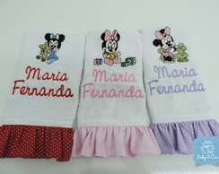 KIT C/ 3 TOALHAS DE BOCA MINNIE