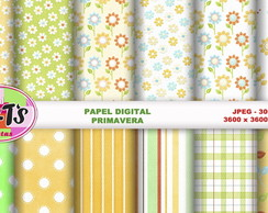PRIMAVERA papel digital para scrapbook