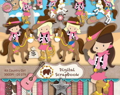 Kit Scrap Digital - Festa Country Menina