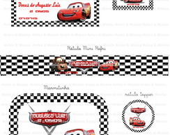 Kit Arte Digital Carros Disney