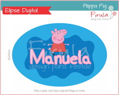 Placa Elipse Digital Peppa Pig