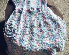 4c2533cd1c2e Vestido em Croche para Menina 3 Anos | Elo7