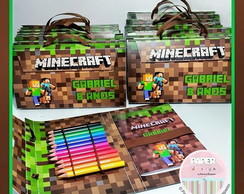 Maletinha Minecraft - kit pintura