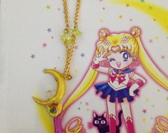 Sailor Moon colar cetro lunar