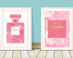 Poster a4 Chanel nº 5 Floral Pink