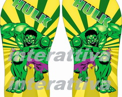 chinelo do hulk
