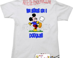 Camiseta infantil mickey e Minnie.