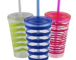 3 Walking Cup Decorado - Copo 550ml