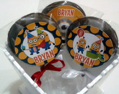Pirulitos chocolate belga - Minion