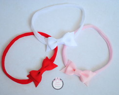 Kit com 3 headbands baby - meia de seda