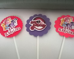Topper personalizado tema my little pony