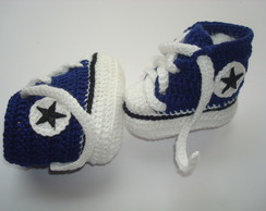 tenis imitando o all star de croche