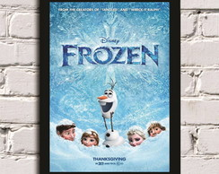 Poster com Moldura Frozen - Let it go