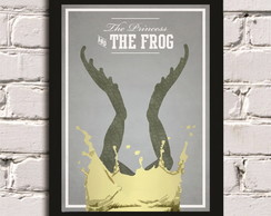 Poster com Moldura Princess and the frog