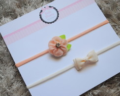 Kit 2 headbands baby - meia de seda