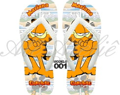 Chinelo Garfield Personalizado Havaianas Top Original
